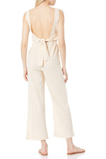 Open Back Jumpsuit With Back Tie