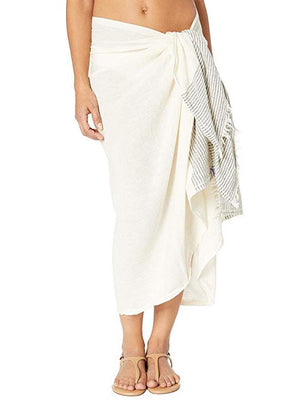 Load image into Gallery viewer, Stitch Stripe Sarong/Scarf