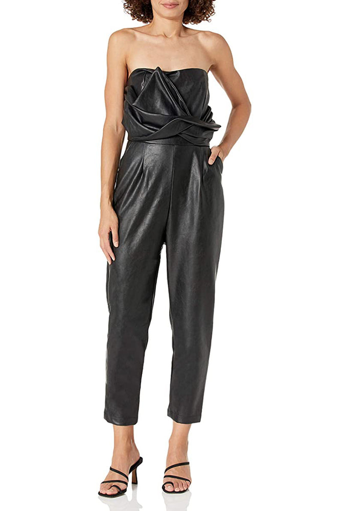 Front Bow Tie Sleeveless Jumpsuit