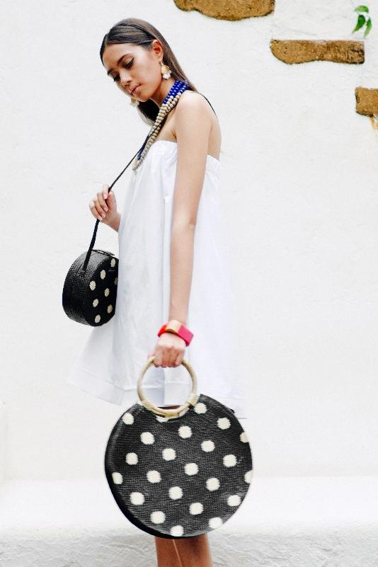 Load image into Gallery viewer, BELLO Polk A Dot Large Round Bag
