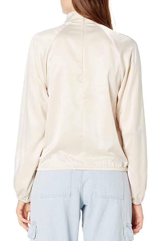 Ruching Balloon Blouse in TAUPE