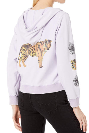 Graphic Zip Up Hoodie