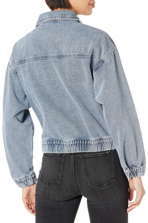 Zip Up Double Pocket Cropped Jacket