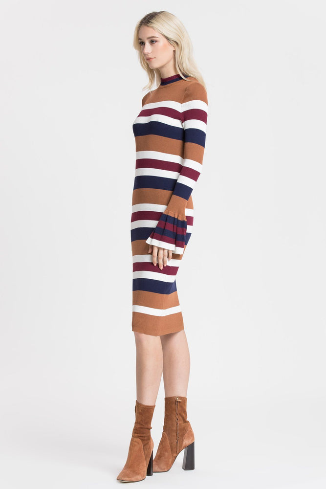 Multi  Striped Sweater Dress