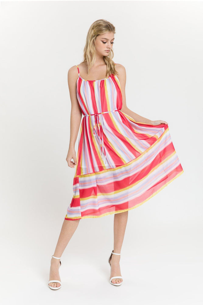 CLOTHING - Multi Striped Flowy Dress