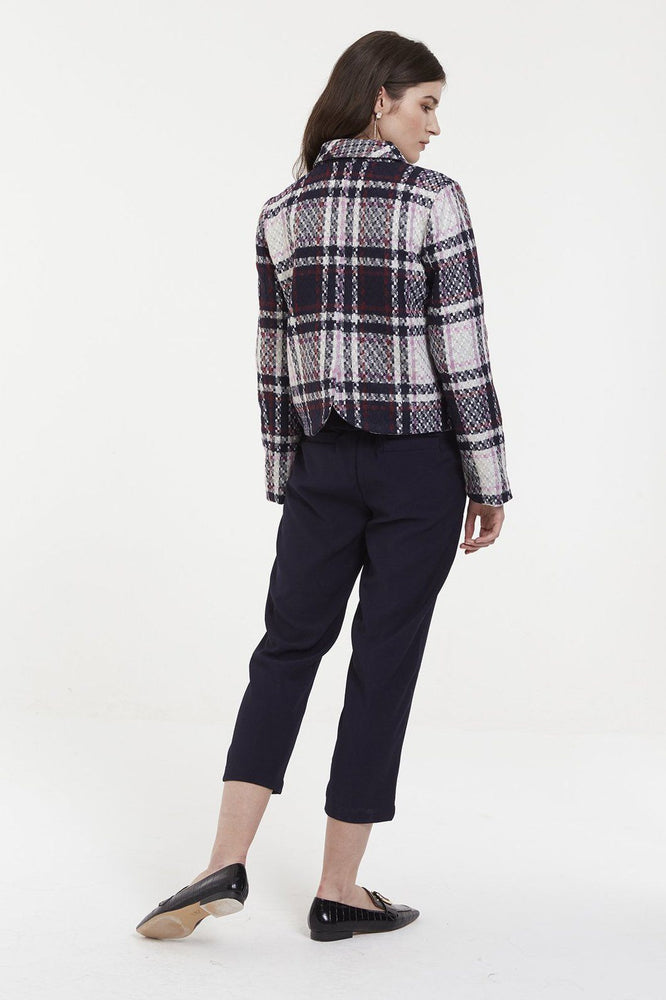 CLOTHING - Big Tartan Pattern Blazer Jacket