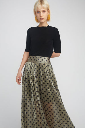 Load image into Gallery viewer, Dot Patten Skirt