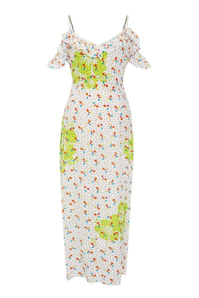 CLOTHING - Joy Dress White Green