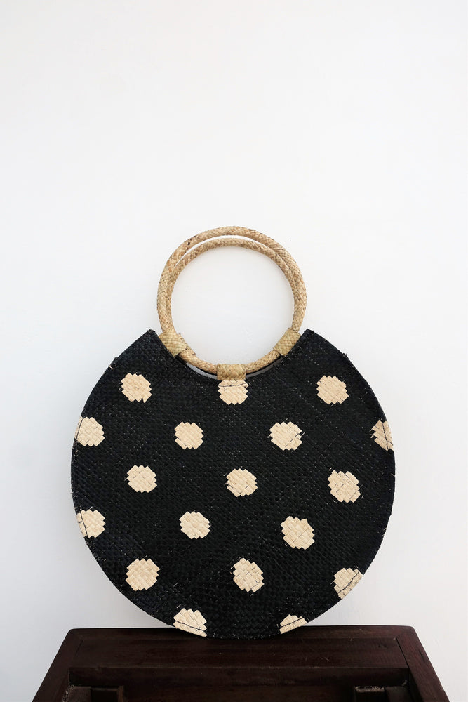 BELLO Polk A Dot Medium Round Bag