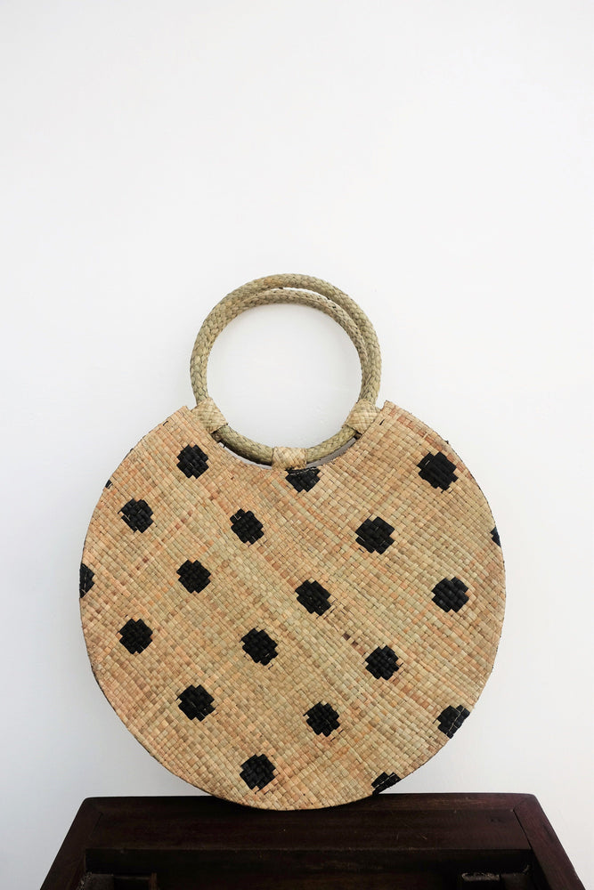 ACCESSORIES - BELLO Polk A Dot Medium Round Bag