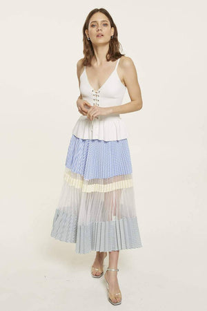 Multi-Coloured Maxi Skirt With Striped Pattern