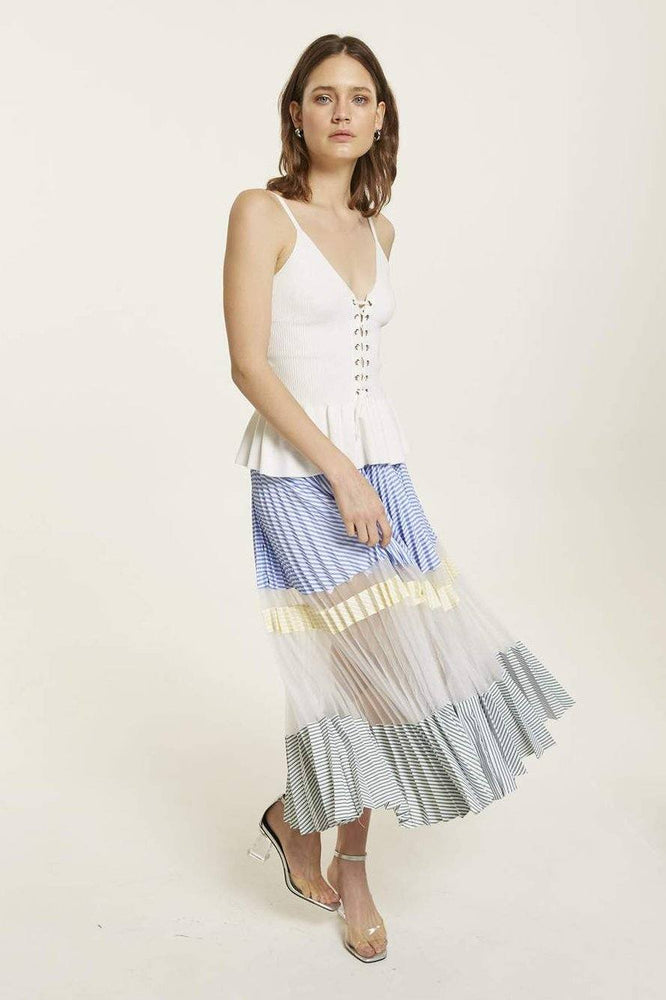 CLOTHING - Multi-Coloured Maxi Skirt With Striped Pattern