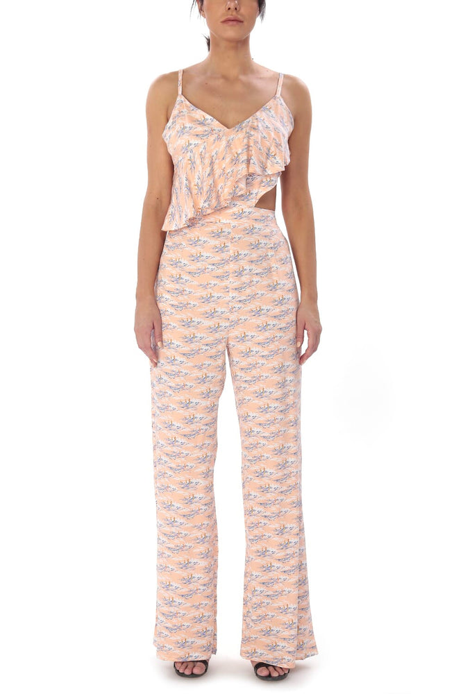 Load image into Gallery viewer, Ruffled Jumpsuit with Cutout