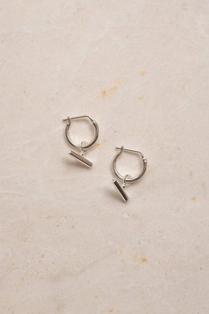 Chloe Sleeper Hoops - Silver