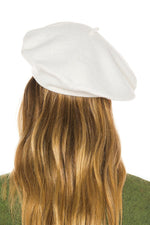 ACCESSORIES - Classic Wool Beret-Ivory