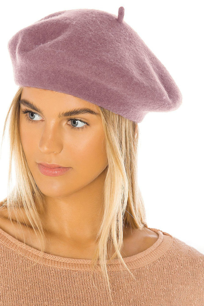 Load image into Gallery viewer, Classic wool beret-Blush