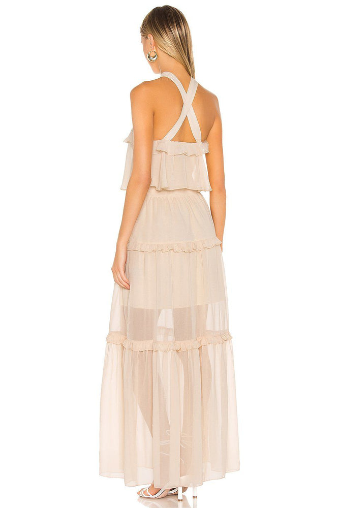 CLOTHING - Ruffled Halter Maxi Dress