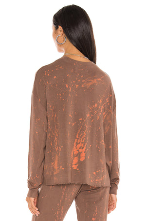 Load image into Gallery viewer, Mineral Wash Crewneck Sweatshirt With Raw Edge