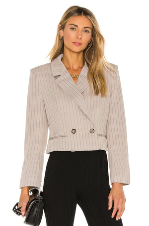 Double Breasted Cropped Blazer