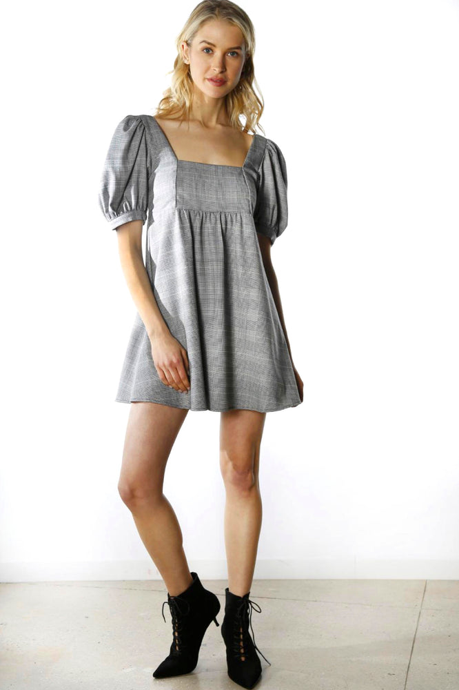 Babydoll Puff Sleeve Dress