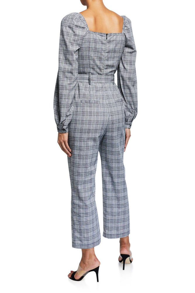 CLOTHING - Plaid Balloon Sleeve Jumpsuit