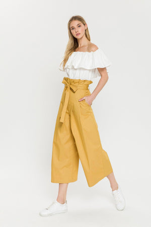 Pleated Paper Bag Pants