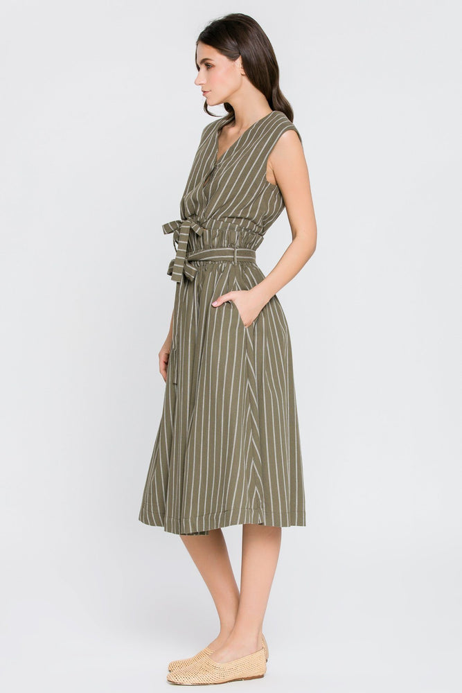 CLOTHING - STRIPED SKIRT W/ TIE
