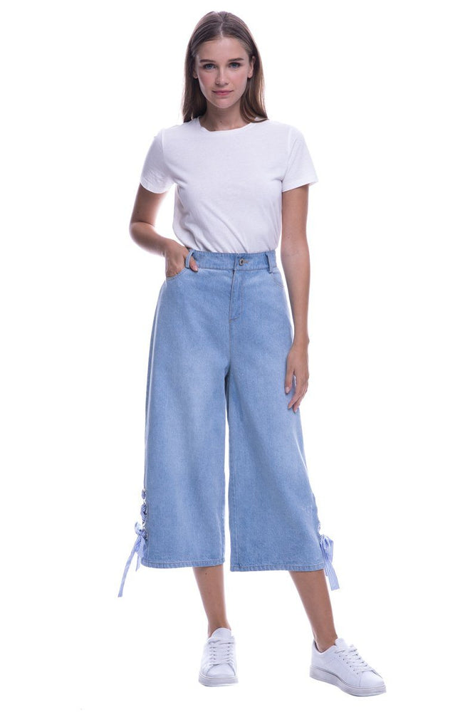 CLOTHING - Regular Denim Pants With Tie