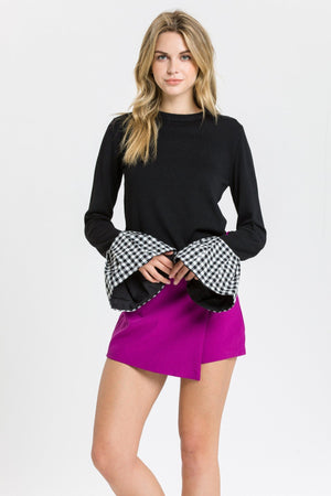 Sweater with Combo Cuff