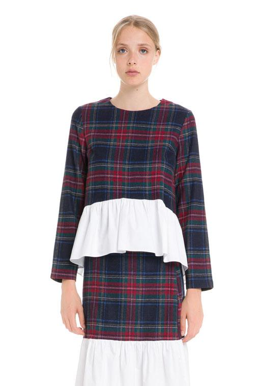 Load image into Gallery viewer, Tartan Combo Top