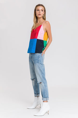 Colorblock Poplin Cami