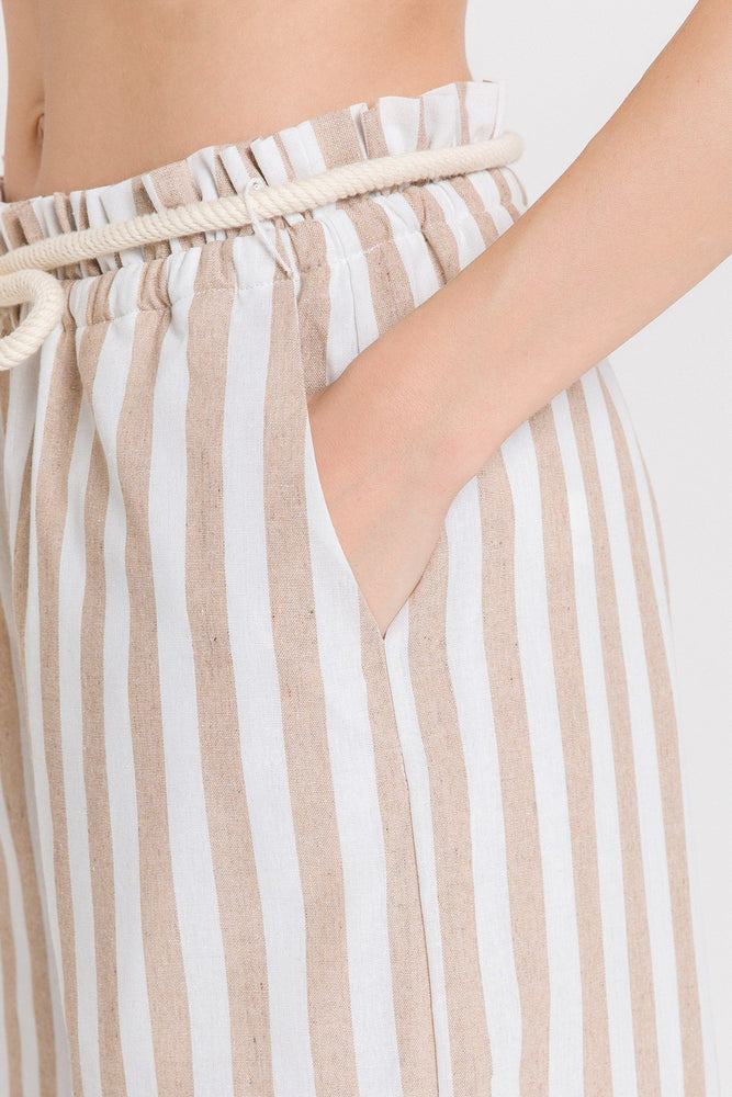 CLOTHING - Striped Wide Leg Pants