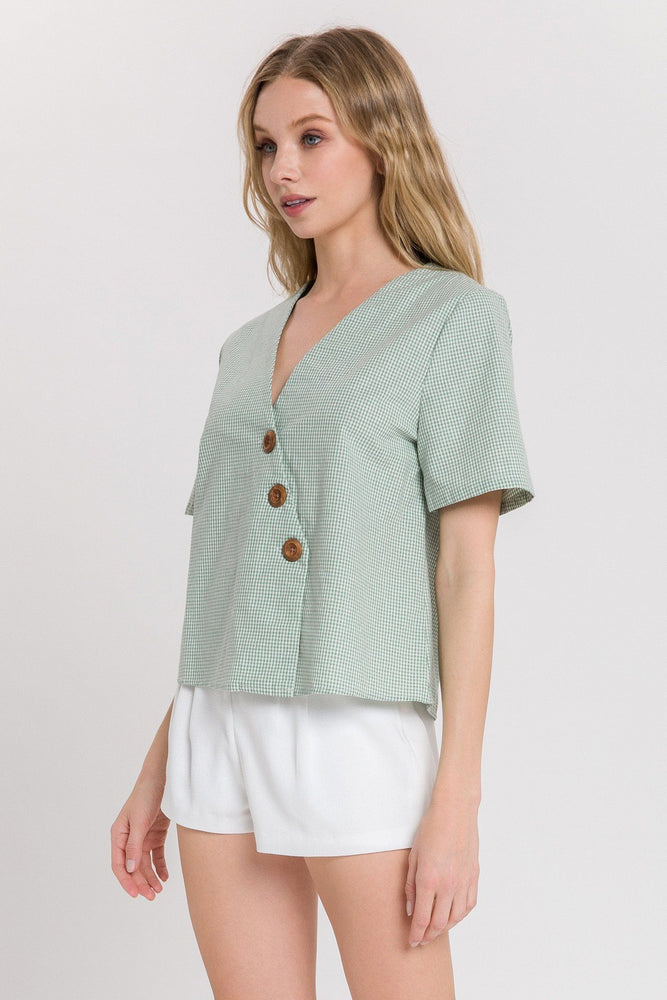 Asymmetric Blouse With Buttons