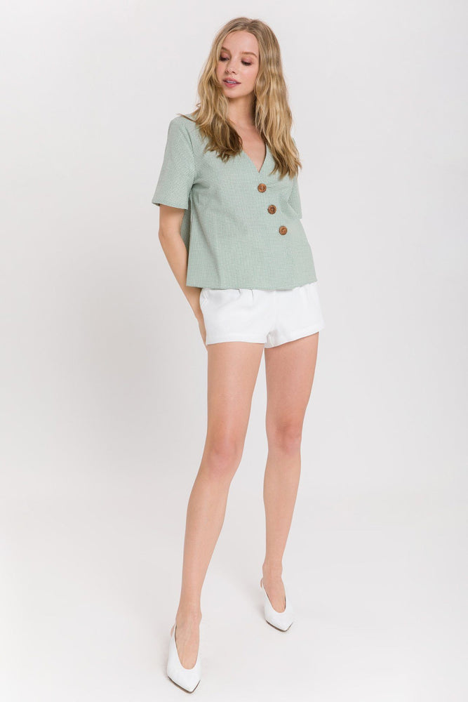 CLOTHING - Asymmetric Blouse With Buttons