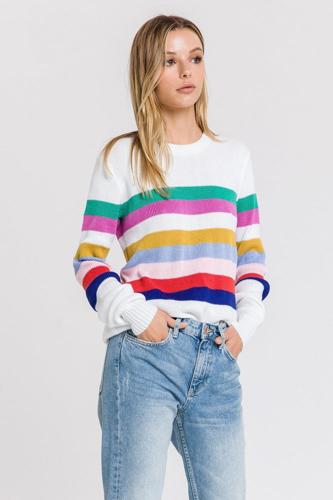 CLOTHING - Muilt Striped Sweater
