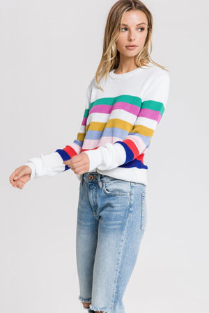 Load image into Gallery viewer, Muilt Striped Sweater