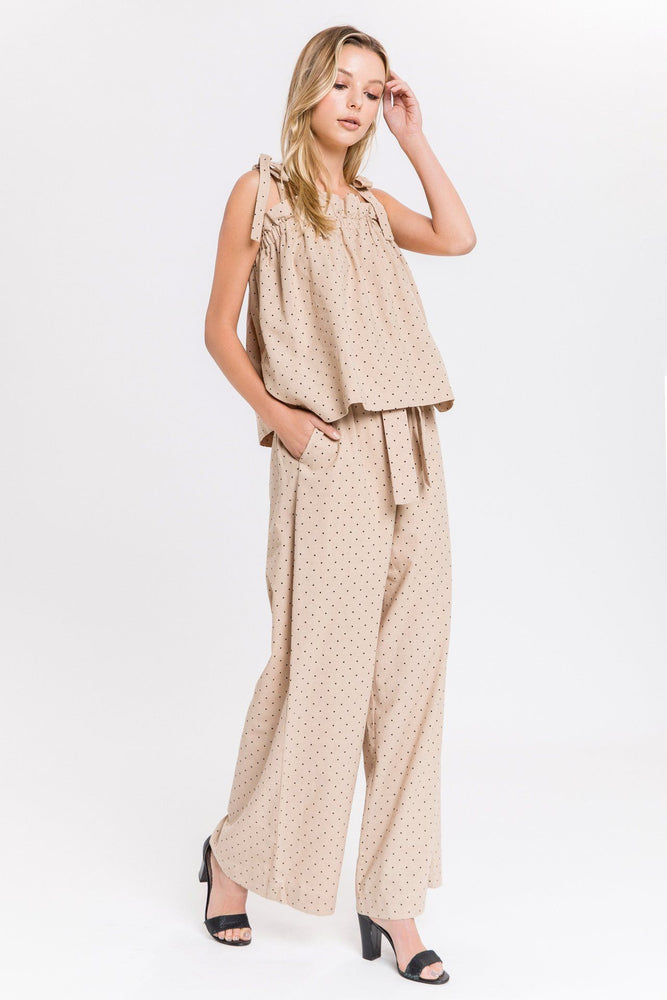 Load image into Gallery viewer, Polka Dot Wide Leg Pants