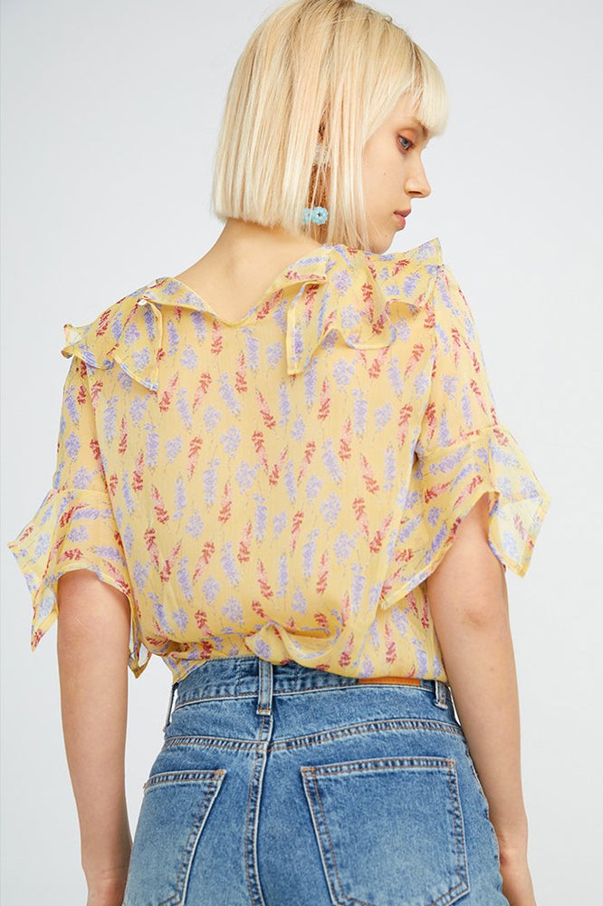Load image into Gallery viewer, Multi Ruffle Blouse
