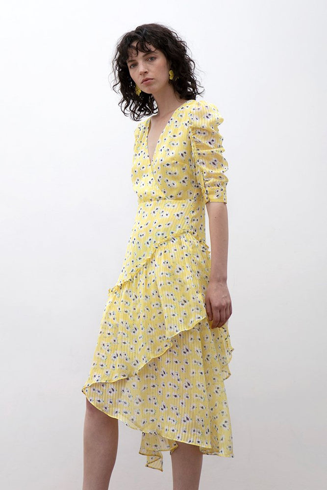 Load image into Gallery viewer, Pushkin Floral Print Maxi Dress