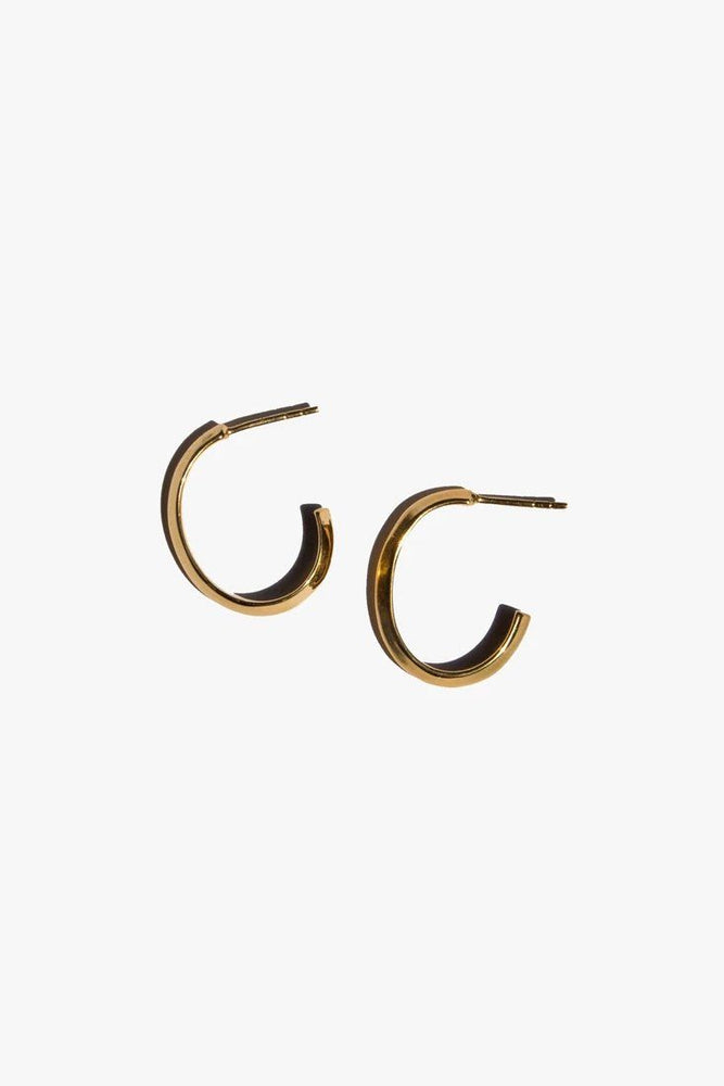 ACCESSORIES - Ridge Hoops - Gold