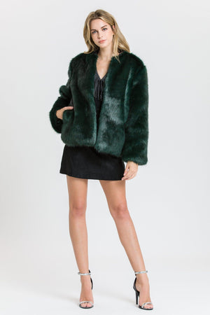 Load image into Gallery viewer, Faux Fur Jacket