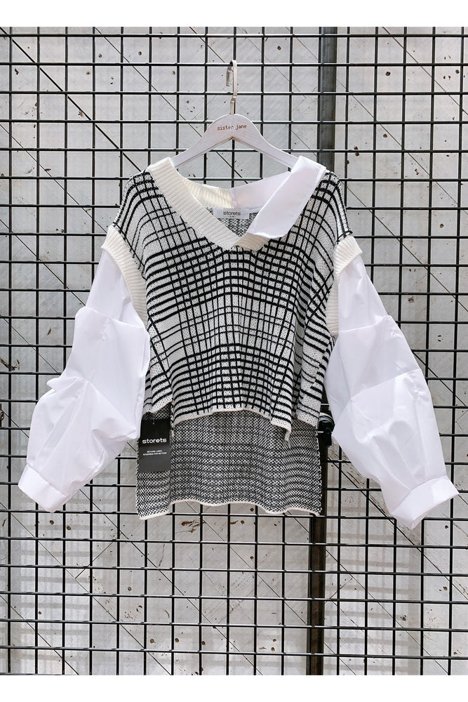 Adalyn Layered Vest Shirt