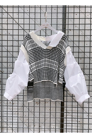 Load image into Gallery viewer, Adalyn Layered Vest Shirt