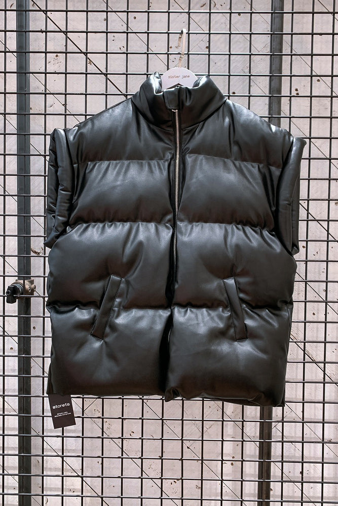 Load image into Gallery viewer, Destiny Pleather Puffer Vest