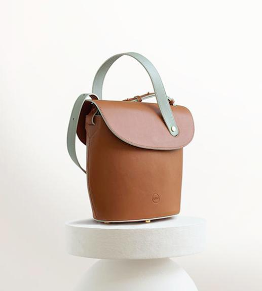 ACCESSORIES - Canasta - Caramel/Mint