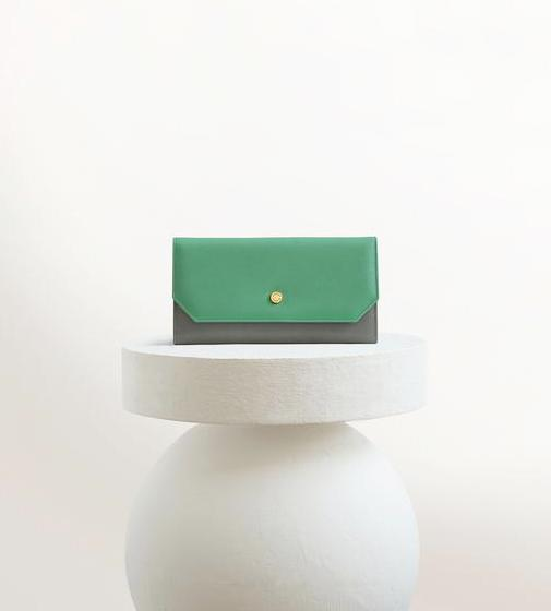 Envelope - Green/Grey