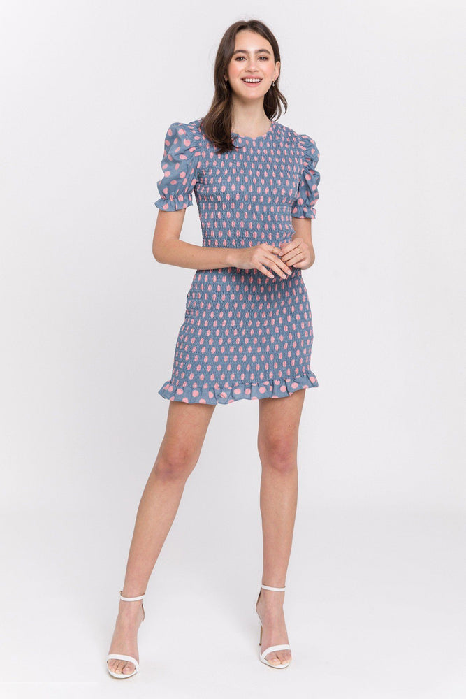 Dotted Smocking Dress
