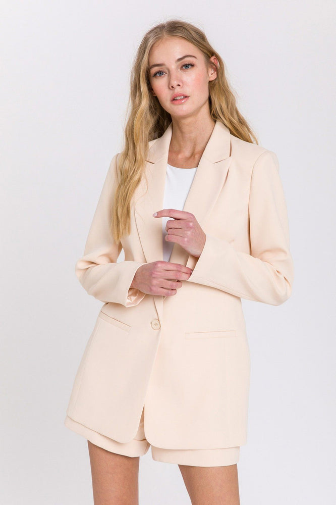 Single Breasted Blazer - Ivory