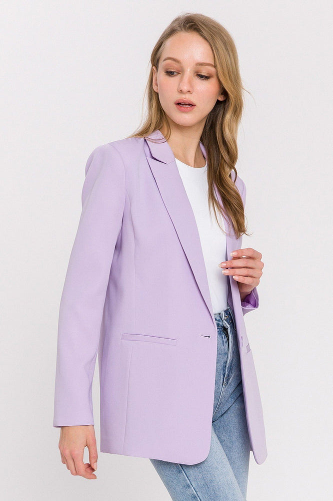 Single Breasted Blazer - Lilac