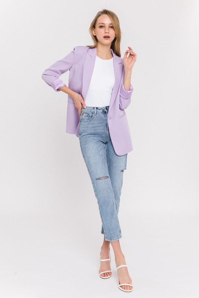 CLOTHING - Single Breasted Blazer - LILAC